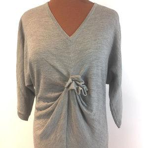 Garnet Hill Merino Wool Gathered Front Sweater